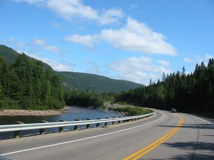 La route est belle...