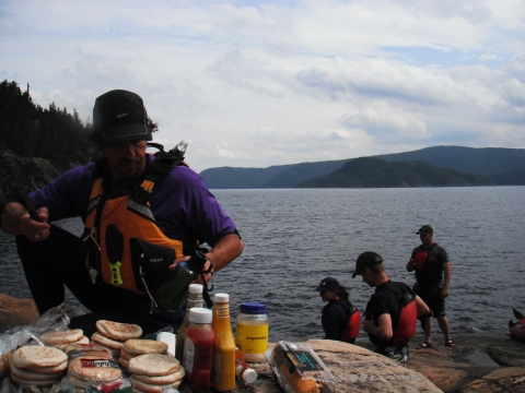 Lunch stop on shore of Fjord-of-Saguenay