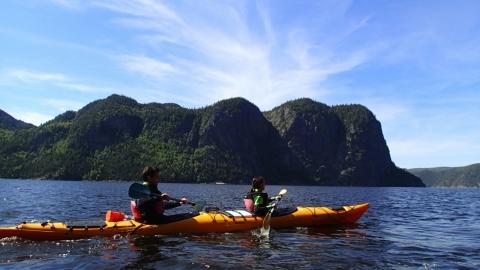 Kayak de mer sur le Fjord-du-Saguenay