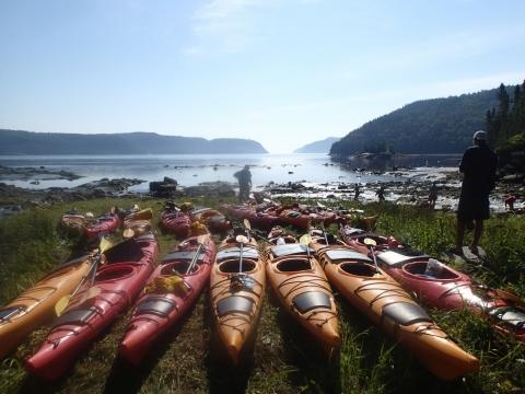 Avant départ en expédition de kayak de mer