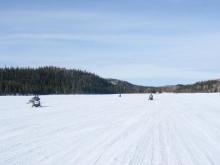 Jalobert lake, on Monts-Valin